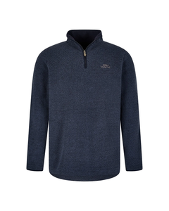Weird Fish Mens Errill 1/4 Zip Textured Fleece