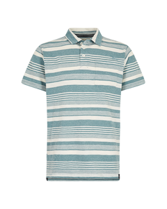 Weird Fish Mens Tremaine Stripe Grindle Polo