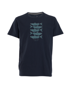 Weird Fish Mens Mullet Over Organic Cotton Branded T-Shirt