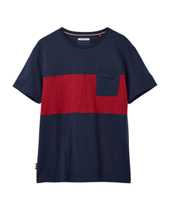 Joules Mens Rugby Striped Crew Neck T-Shirt