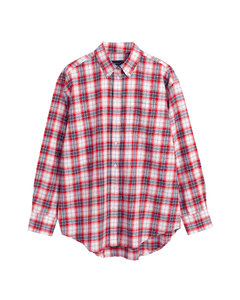 GANT Ladies Flannel Check Relaxed Shirt