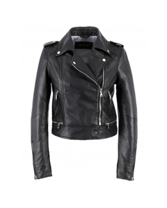 Oakwood Ladies Yoko Short Leather Biker Jacket