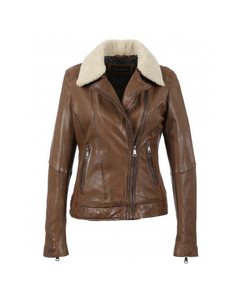 Oakwood Ladies Follower Leather Biker Jacket