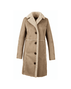 Oakwood Ladies Rivality Curly Fur Suede Faux Shearling Jacket