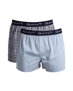 Gant Mens Mini Gingham Boxer Shorts 2-Pack