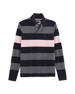 Eden Park Mens Polo Multi Stripe Rugby Shirt