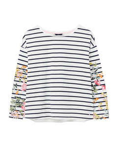 Joules Ladies Marina Print Dropped Shoulder Jersey Top