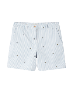 Joules Ladies Cruise Emb Mid Thigh Length Chino Shorts
