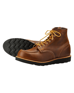 Red Wing Mens Classic Moc 6 Inch Black Sole Boots